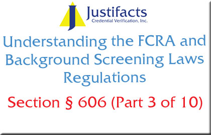 FCRA Section 606