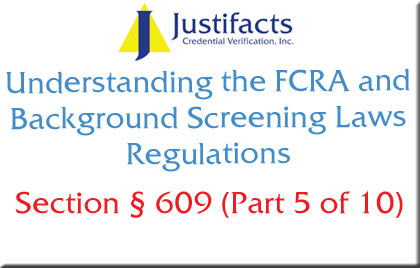 FCRA Section 609