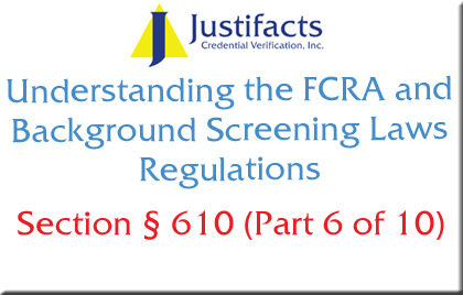 FCRA Section 610