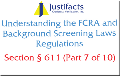 FCRA Section 611