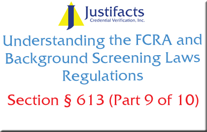 FCRA Section 613