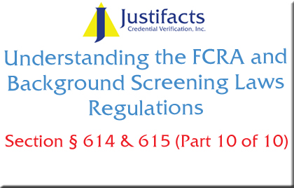 FCRA Section 614 and 615