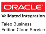 Oracle Validated Integration. Taleo business edition cloud service logo