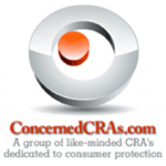 "Concerned CRAs logo. ""A group of like-minded CRA's dedicated to consumer protection"""