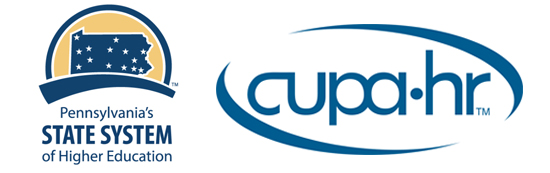 Pennsylvania's State System of Higher Education and CUPA HR logos