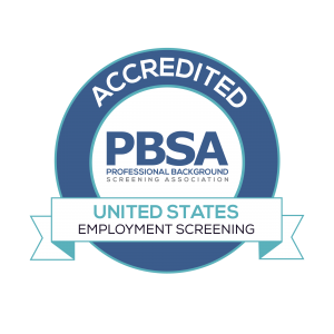 Accredited PBSA Employment Screening in the United States Award